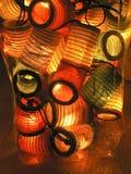 het vouwen van document lantaarns Royalty-vrije Stock Afbeelding