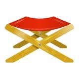 Het vouwen van houten stoel Royalty-vrije Stock Foto's