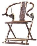 Het vouwen van stoel van Chinees klassiek meubilair stock afbeelding