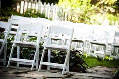 Het vouwen van stoelen Royalty-vrije Stock Foto's