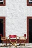 Het vouwen van stoelen Stock Foto's