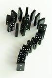Het Vraagteken van de domino Stock Afbeelding