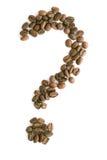 Het vraagteken van de koffie Stock Fotografie