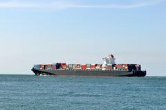 Het vrachtschip van de container stock foto's