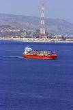 Het vrachtschip van de container stock fotografie