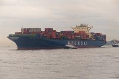 Het vrachtschip van Hongkong Stock Foto