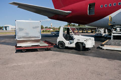 Het vrachtvliegtuig van de lading stock afbeeldingen
