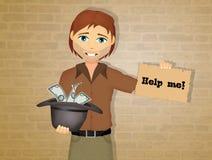 Het vragen om liefdadigheid stock illustratie