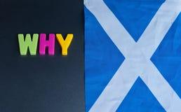 Het vragen waarom een referendum voor Schotse Onafhankelijkheid hebben Stock Foto's