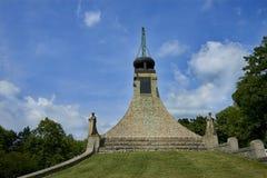 Het Vredesgedenkteken op Prace, Tsjechische Republiek Een klein museum herdenkt de slag van Austerlitz stock fotografie