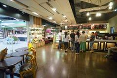 Het vreedzame binnenland van de koffiekoffie in ShenZhen royalty-vrije stock fotografie