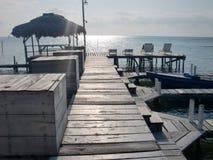 Het vreedzame strand van Belize Royalty-vrije Stock Afbeeldingen