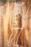 Het vreedzame teken van het Eilandbewoner vrouwelijke toilet stock afbeelding