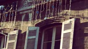 Het vreemde balkon Stock Foto