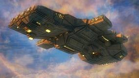 Het vreemde schip van het UFO Stock Foto