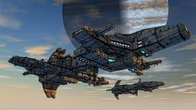 Het vreemde schip van het UFO Royalty-vrije Stock Foto