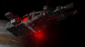 Het vreemde schip van het UFO Stock Afbeeldingen