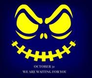 Het vreselijke schepsel die die uit dark staren, op Halloween wordt gevreesd Royalty-vrije Stock Afbeelding