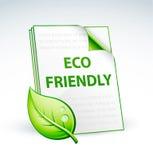 Het vriendschappelijke document van Eco vector illustratie