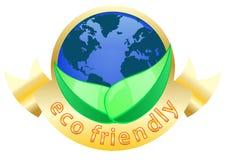 Het vriendschappelijke etiket van Eco Royalty-vrije Stock Fotografie