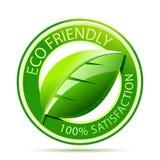 Het vriendschappelijke etiket van Eco Stock Afbeelding