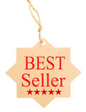 Het vriendschappelijke etiket van Eco Bestseller, op witte achtergrond wordt geïsoleerd die Stock Afbeelding