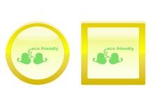 Het vriendschappelijke pictogram van Eco Royalty-vrije Stock Foto's