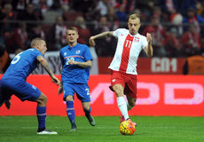 Het Vriendschappelijke Spel van Polen - van IJsland Royalty-vrije Stock Foto