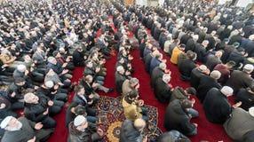 Het vrijdaggebed is een gebed één keer in de week gepresteerd door Moslims Stock Afbeeldingen