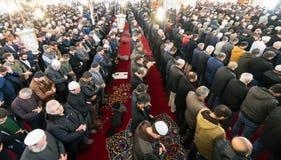 Het vrijdaggebed is een gebed één keer in de week gepresteerd door Moslims Stock Fotografie