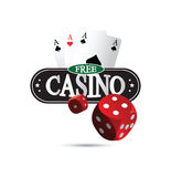 Het vrije Concept van het Casinoontwerp Stock Afbeeldingen