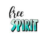 Het vrije geest van letters voorzien op witte achtergrond Royalty-vrije Stock Foto