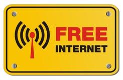 Het vrije gele teken van Internet - rechthoekteken royalty-vrije illustratie