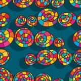 Het vrije naadloze patroon van de wervelingsstijl vector illustratie