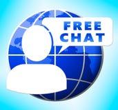Het vrije Praatje toont Internet-Berichten 3d Illustratie stock illustratie