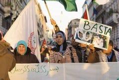 Het vrije Protest van Palestina Stock Afbeeldingen
