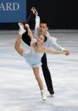 Het vrije schaatsen van Huibo van DONG/van Yiming WU (CHN) Stock Fotografie