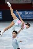 Het vrije schaatsen van Huibo van DONG/van Yiming WU (CHN) Stock Afbeeldingen