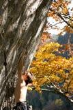 Het vrije solo Beklimmen Stock Afbeeldingen