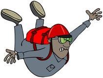 Het vrije vallen skydiver royalty-vrije illustratie