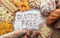 Het vrije voedsel van het gluten royalty-vrije stock afbeeldingen