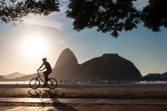 Het vroege Ochtend Cirkelen in Rio de Janeiro Stock Afbeelding
