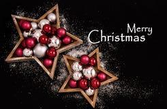 Het vrolijke behang van Kerstmis Stock Foto's