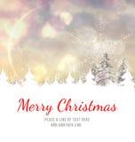 Het vrolijke Bericht van Kerstmis Stock Foto's