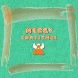 Het vrolijke ChristmasXmas-Malplaatje van de groetkaart Peperkoeken De gelukkige affiche van de de Wintervakantie Nieuw jaar De B royalty-vrije illustratie
