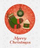Het vrolijke concept van het Kerstmisontwerp Stock Foto's