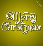 Het vrolijke de hand van Kerstmis van letters voorzien Stock Afbeeldingen