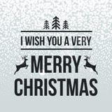 Het vrolijke de typografie van het Kerstmis retro ontwerp van letters voorzien Stock Afbeeldingen