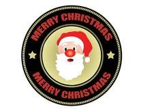 Het vrolijke etiket van Kerstmis Stock Fotografie