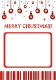 Het vrolijke Frame van de Foto van Kerstmis Retro Stock Foto's